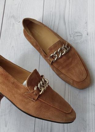 38р замша,кожа!новые мinelli франция рыжие лоферы,мокасины туфли