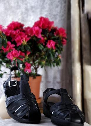 Ecco натуральные кожаные брендовые босоножки сандалии