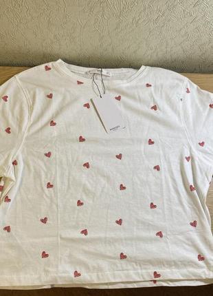 Укорочённая трендовая футболка mango zara