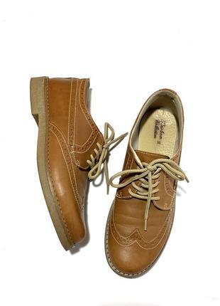 Кожаные туфли броги оксфорды натуральная кожа