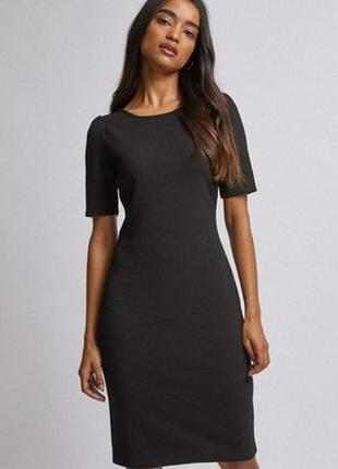🌿1+1=3 крутое черное строгое платье футляр миди by very, размер 46 - 48
