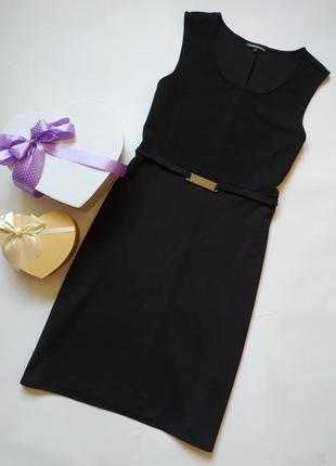 Базовое черное трикотажное платье