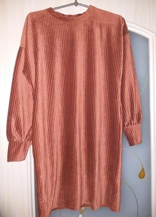 Велветовое платье primark