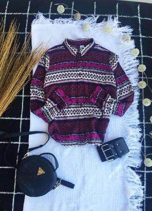 Шикарна блузка в принт, сорочка рубашка топ поло блуза