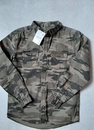 Джинсовая  рубашка р 140 c&a