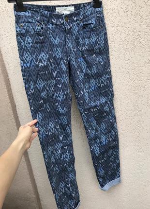Джинсы синие яркие джинсы h&m , женские джинсы l.o.g.g h&m