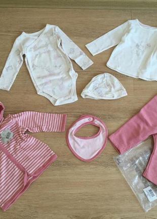 Комплект lupilu на новорожденную девочку, р62-68, 100% cotton