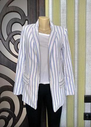 H&m стильный пиджак в полосу