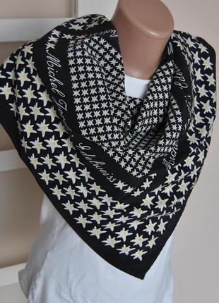 Шелковый платок шарф michael fordis edelweiss / шовкова хустка