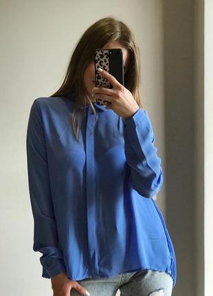 Блуза небесного кольору