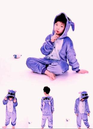 Комбинезон пижама кигуруми стич фиолетовый унисекс