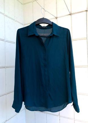Рубашка тёмно-зелёного (малахитового) цвета