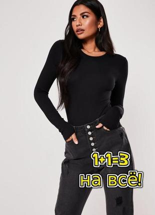 🌿1+1=3 фирменный черный свитер лонгслив гольфик водолазка george, размер 44 - 46