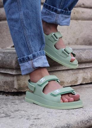 Женские босоножки chanel sandal mint