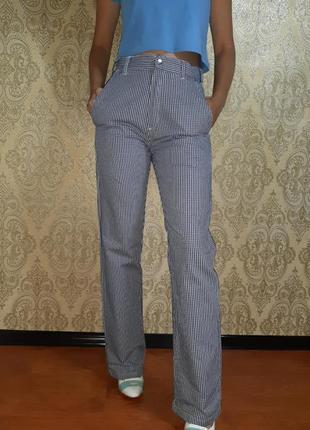 Штаны брюки джинсы клетка