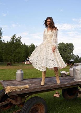 Платье миди ажурное zimmermann