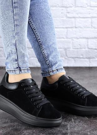 Кроссовки женские черные alenie 2101  бренд:style