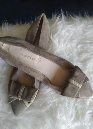 Замшевые туфли балетки от tamaris 37р
