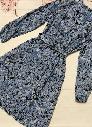 Платье миди узор винтажное большой размер