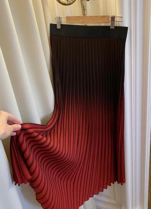 Роскошная юбка-плиссе миди maje 1 размер пояс на резинке ❤️🖤