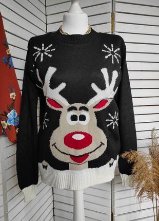 Теплый свитерок с оленем  select