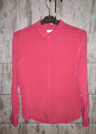 Элегантная воздушная шелковая рубашка блуза топ шёлк in wear качество размер eur 32