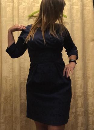 Платье синие офис нарядное