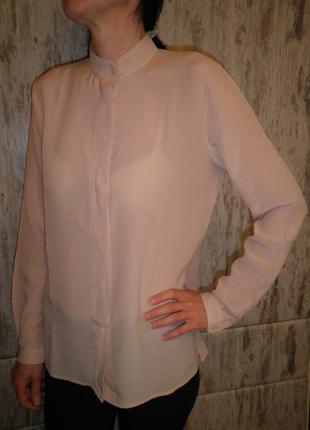 Элегантная воздушная шелковая рубашка блуза топ шёлк marc aurel качество размер 36
