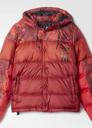 Зимняя куртка с капюшоном пуховик adidas originals