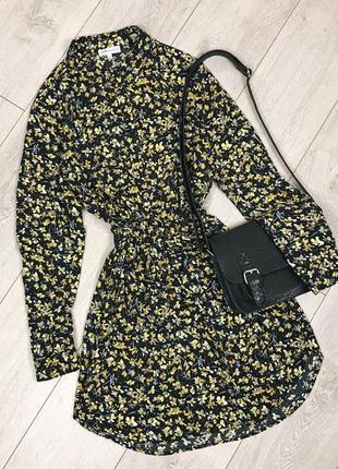 Платье рубашка в цветочный принт warehouse