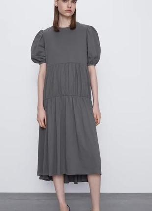 Платье трикотажное zara