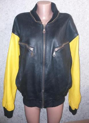 Кожаный бомбер , кожаная куртка,кожанка