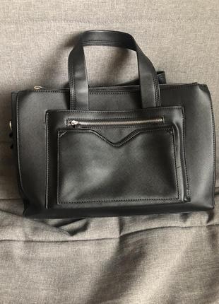 Сумка, чёрная сумка, большая сумка, велика сумка, parfois