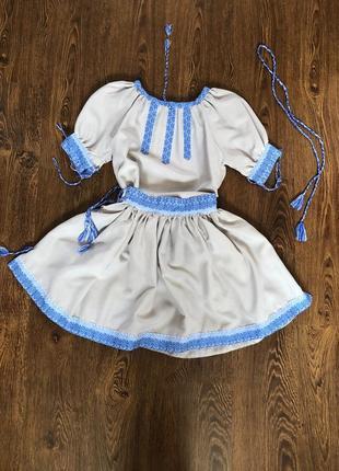 Вишитий костюм(сорочка, спідниця)
