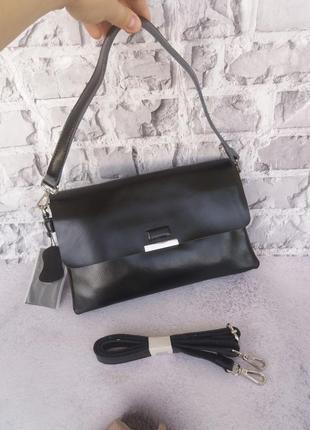 Женская кожаная сумка кожаный клатч galanty шкіряна жіноча шкіряний