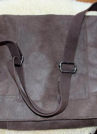 Шикарная мужская сумка мессенджер pier one натуральная кожа.