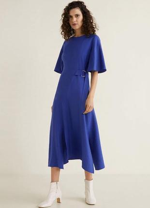 Mango синее платье, l