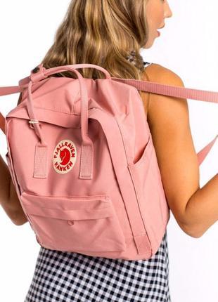 Розовый рюкзак kanken