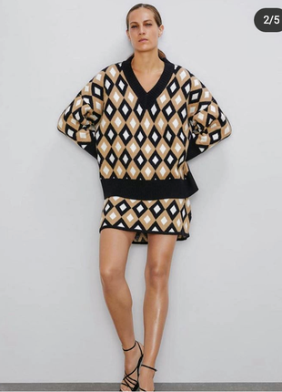 Комплект свитер юбка zara 2020