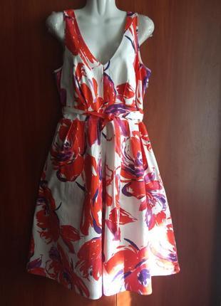 Платье сарафан с цветочным принтом