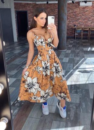 Сукня, сарафан льон