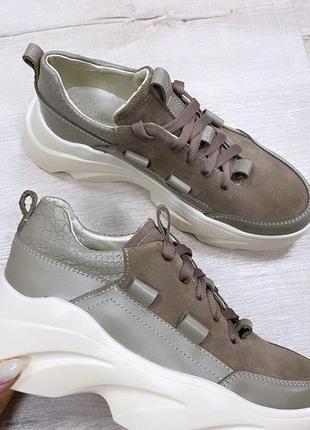 Кросовки кроссовки кожаные итальянская кожа