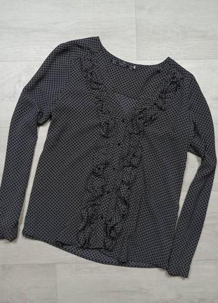 Блуза zara с рюшей