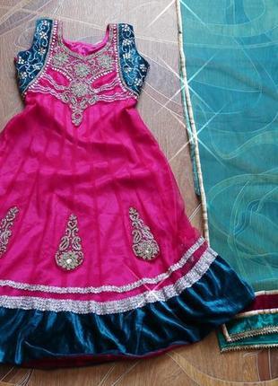 Детский индийский  костюм.  сари.