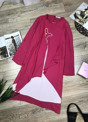 Gdg actuel  шикарная свободная туника платье обалденных оттенков 🔥