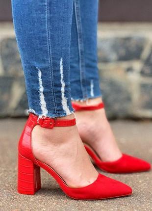 Шикарные красные туфельки
