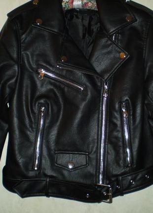 Куртка косуха байкерская с ремнем sinsay , р м,l,xl9 фото