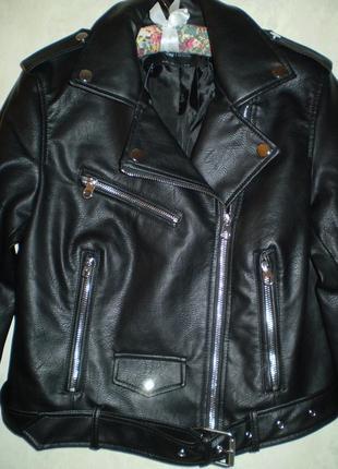 Куртка косуха байкерская с ремнем sinsay , р м,l,xl8 фото