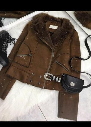 Укороченная курточка мех 🔥🔥🔥