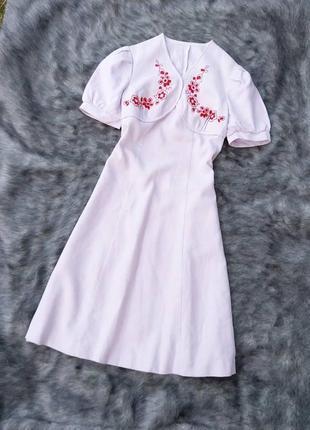 Платье вышиванка с вышивкой